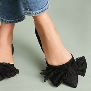 ANTHROPOLOGIE Bed and Breakfast Flats Black